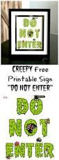 creepy free printable sign