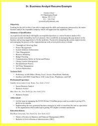 Entry Level Business Analyst Resume Objective Cover Letter Senior Business Analyst Resume Sample Sample Senior