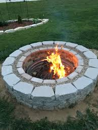 floating fire pit fire pit made from bricks grout gravel and retaining wall