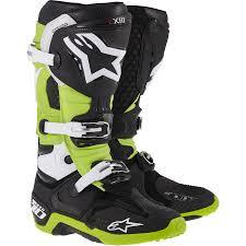 motocross gear boots 2014 new tech 10 motocross boots black green 2014 alpinestars