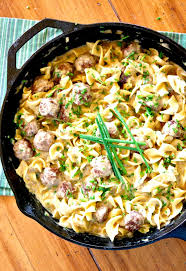 sauce boursin cuisine skillet meatballs and noodles in herb sauce gonna want