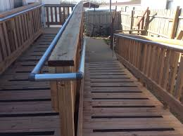 Wheelchair Ramp Handrails Wood Wheelchair Ramps