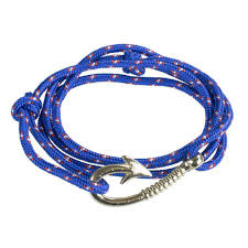 wrap bracelet with anchor images Paracord wrap bracelet with anchor hook clasp royal blue jpg