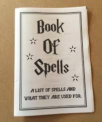 harry potter zaubersprüche buch druckbare zauberbuch buch der zaubersprüche harry potter