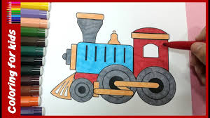 colouring pages for kids how to color train coloring page