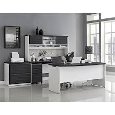 Office Table U Shape Design Latitude Run Elizabeth U Shape Computer Desk With Hutch U0026 Reviews