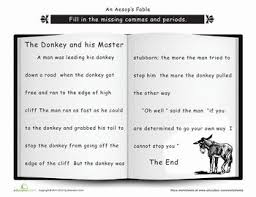 punctuation the donkey and his master donkeys punctuation and
