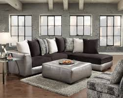 Pillow Back Sofas by Affordable Furniture 6351 6352 6355sp Shimmer Pewter 2 Piece