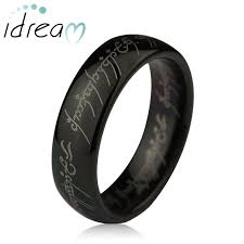 lord of the rings wedding band black lotr one ring tungsten wedding band domed lord of the rings