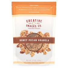 creative snacks co honey pecan granola 12 oz walmart com