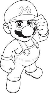 printable mario bros coloring pages cartoon coloring pages of