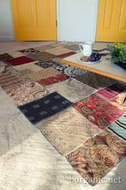 Diy Area Rug From Fabric Diy Rug Idea Attach Fabric To Inexpensive Area Rug Living Room