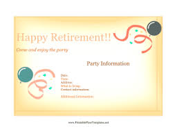 flyer for retirement party png
