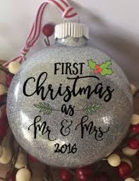 as mr mrs ornament you select word and year