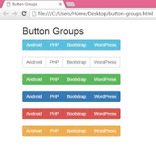 css tutorial horizontal menu create horizontal menu button groups using bootstrap in html php