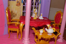 Holiday Gift Idea For Girls Disney Princess Ultimate Dream Castle - Beauty and the beast dining room