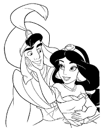 jasmine coloring pages aladdin and jasmine undercover coloring page aladdin pages of