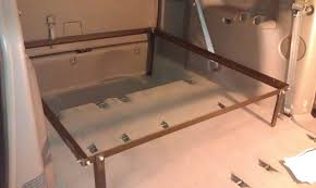 Building A Platform Bed With Legs by Van Build Part 4 Building The Raised Platform Bed Part 1 Youtube