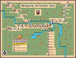 Calgary Map Calgary C Train Map U2013 Super Mario 3 Style U2013 Second Edition
