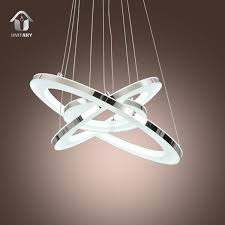 Acrylic Ceiling Light Unitary Modern Led Acrylic Pendant Lighting With 3 Rings Max 33w