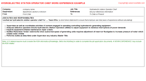 Resume Duties Examples by Cv Work Experience Samples For Jobs