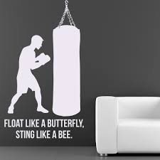 float like a butterfly sting like a bee boxing wall stickers float like a butterfly sting like a bee boxing wall stickers sports gym decals