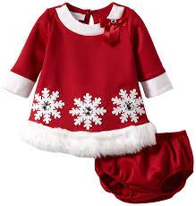 amazon com bonnie baby girls newborn snowflake applique santa