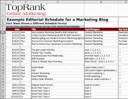 Editorial Calendar Template Excel An Editorial Calendar For Your Tips And Templates