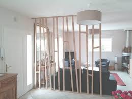 separation cuisine salle a manger separation en bois pour salon