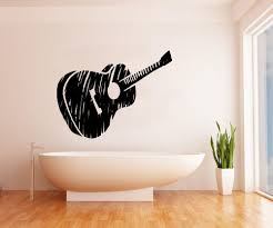 Vinyl Wall Decals by Vinyl Wall Decal Sticker Guitar Sketch Os Mb919