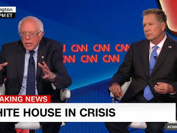 Bernie Sanders New House Pictures White House In Crisis U0027 Sen Sanders And Gov Kasich Hold Townhall