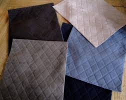 Material For Upholstery Five Pieces Of Black Gray Chocolate Brown Grey Quilted Faux Suede