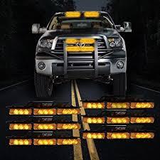 use of amber lights on vehicles amazon com custom autos 54x led emergency service vehicle deck
