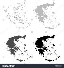 Greece Maps by Vector Illustration Greece Maps Stock Vector 668248552 Shutterstock