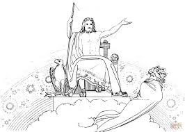 zeus sending the evil dream to agamemnon coloring page free