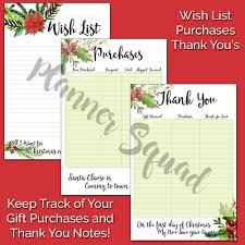 keep your holidays organized with christmas planner inserts