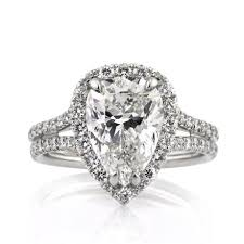 Pear Shaped Wedding Ring by 4 66ct Pear Shaped Diamond Engagement Ring