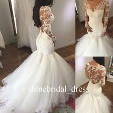 lace mermaid wedding dress lace mermaid wedding dress sleeve bridal gowns us 2 4 6