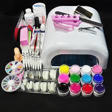 professional nail decoration set acrylic nail kit set or uv gel