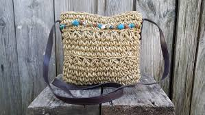 small straw bag straw tote vintage brown bag shoulder bag