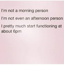 Not A Morning Person Meme - i m not a morning person i m not even an afternoon person i pretty