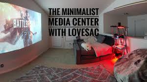 Living Room Setup Minimal Tech Living Room Setup U0026 Lovesac Modular Sactional Youtube