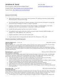 social media resume social media marketing resume paso evolist co