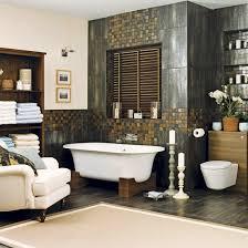 spa bathroom decorating ideas spa style bathroom wood roll tap bath tub relaxing