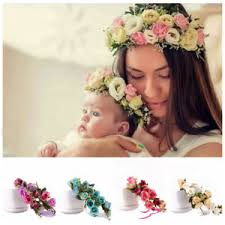 flower hairband baby flower hairband bridal slap circle band kids floral