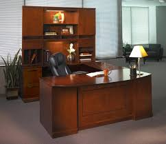 Executive Desk With Hutch Mayline Sorrento Series U Shape Executive Desk With Hutch