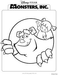 monsters inc coloring pages boo monsters inc coloring pages coloring pages for kids disney
