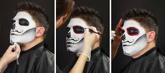 men halloween makeup male sugar skull makeup tutorial wholesale halloween costumes blog