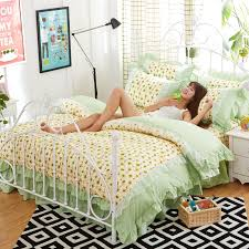 Korean Comforter New Fashion Korean Style Cotton 4pcs Bedding Sets Princess Style