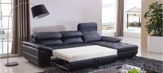 canapé lit cuir noir les canapés d angle convertibles des meubles deux en un